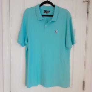 Psycho Bunny | men's blue polo shirt (L)